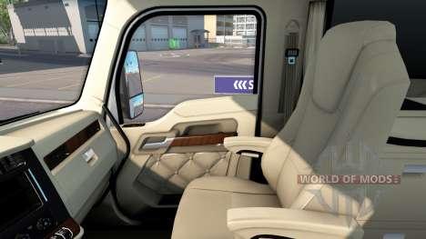 Los interiores de lujo en Kenworth T680 para American Truck Simulator