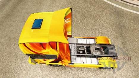 Fuego en la piel para Scania camión para Euro Truck Simulator 2