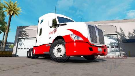 La piel de Coca-Cola Kenworth tractor para American Truck Simulator