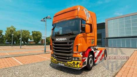 De Transporte pesado de la piel para Scania cami para Euro Truck Simulator 2
