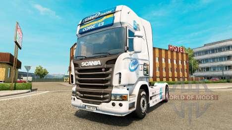 Intel piel para Scania camión para Euro Truck Simulator 2