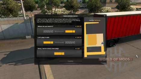 Aumento de la experiencia para el Estacionamient para American Truck Simulator