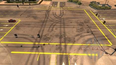 Amarillo marcas de la carretera para American Truck Simulator