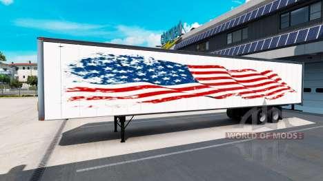 Una colección de pieles en el trailer para American Truck Simulator