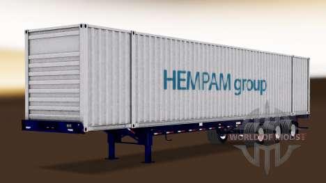 Autónomas, semi-barco de contenedores para American Truck Simulator
