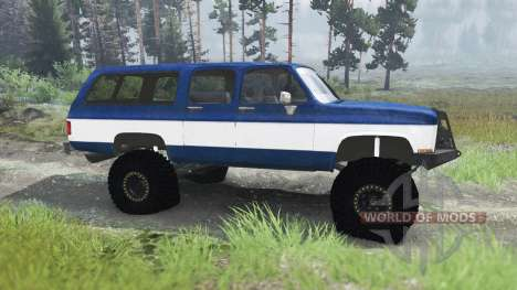 Chevrolet Suburban 1982 [03.03.16] para Spin Tires