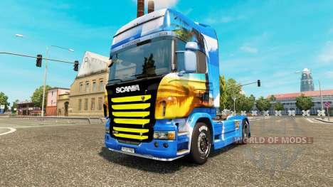 La piel de la Isla en la unidad tractora Scania para Euro Truck Simulator 2