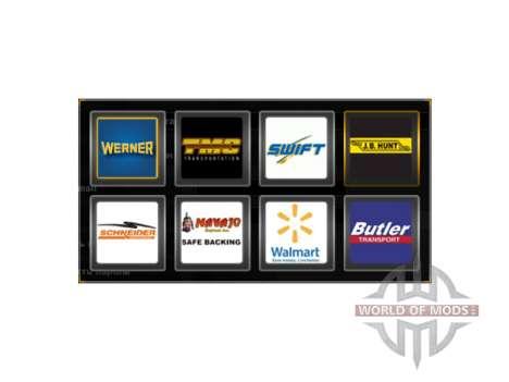 Logotipos de empresas en los estados UNIDOS para American Truck Simulator