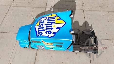 Blanco de la piel del Castillo en un Kenworth tr para American Truck Simulator