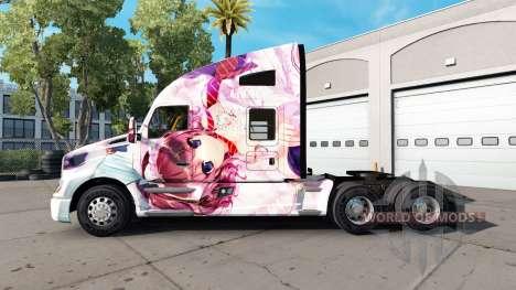 La piel Hanamiya Nagisa en un Kenworth tractor para American Truck Simulator