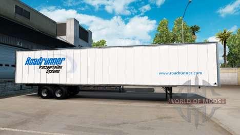 La piel Roadruner en el remolque para American Truck Simulator