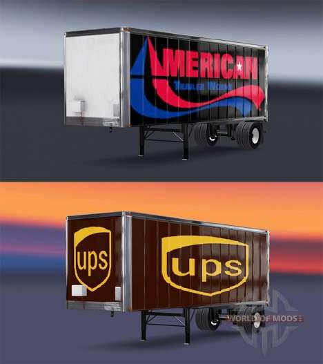 Pieles UPS y American Trailer Obras en el remolq para American Truck Simulator