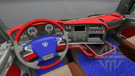 Interior de Scania Leda para Euro Truck Simulator 2