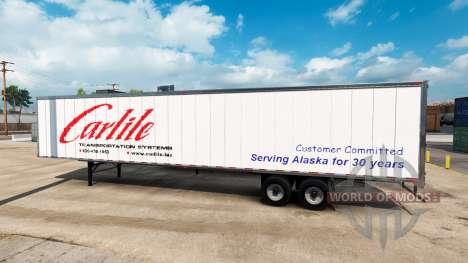 Carlile piel para remolque para American Truck Simulator