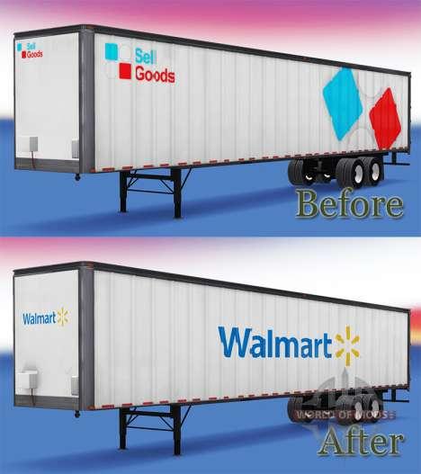 El WalMart Semi-Remolque para American Truck Simulator