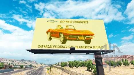 Vintage de la publicidad en vallas publicitarias para American Truck Simulator