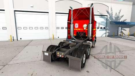 La piel en SAIA de camiones Freightliner FLB para American Truck Simulator