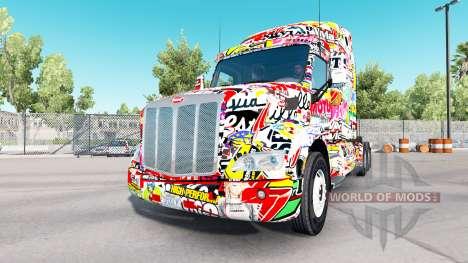 Etiqueta Engomada de la piel para Peterbilt y Ke para American Truck Simulator
