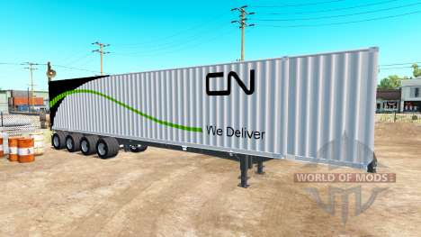 El Semi-Remolque Contenedor 53 para American Truck Simulator