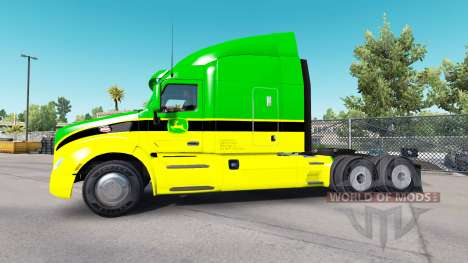 La piel de John Deere tractores Peterbilt y Kenw para American Truck Simulator