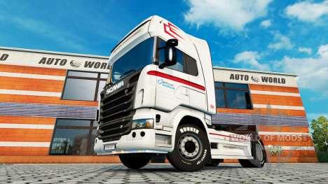 La piel Coppenrath & Wiese v1.1 en la unidad tra para Euro Truck Simulator 2