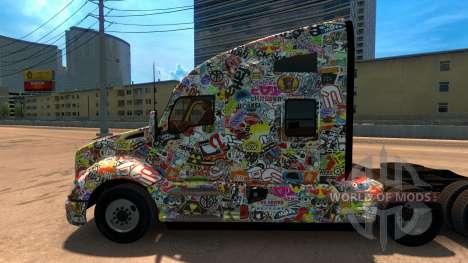 Etiqueta engomada de la Bomba скин для Kenworth  para American Truck Simulator