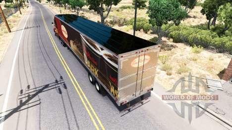 La piel de Tim Hortons en el remolque para American Truck Simulator