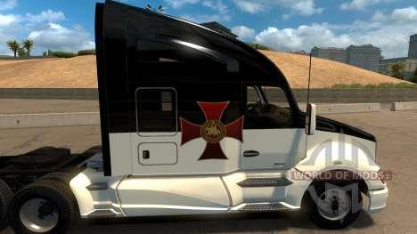 Skin Knights Templar Kenworth T680 para American Truck Simulator