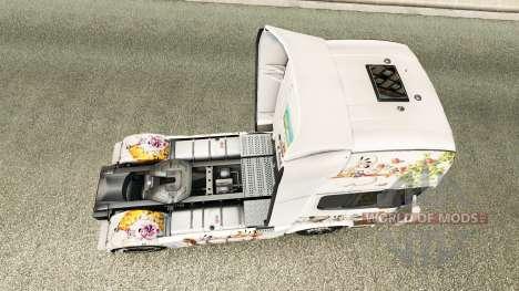 La piel de Kinder en la unidad tractora Scania para Euro Truck Simulator 2