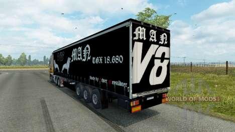 Trailer de el HOMBRE V8 para Euro Truck Simulator 2