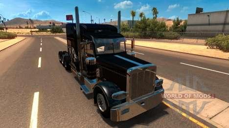 T-D-S Peterbilt 389 Racing Skin Mod para American Truck Simulator