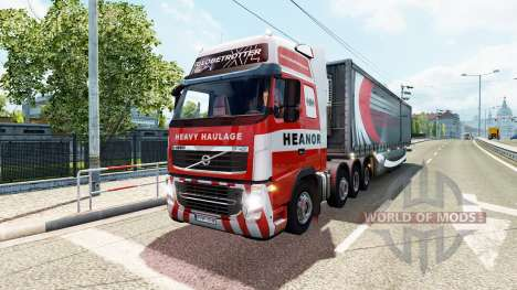 Páginas para colorear de camiones para el tráfic para Euro Truck Simulator 2