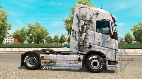 Campo de batalla 4 de la piel para camiones Volv para Euro Truck Simulator 2