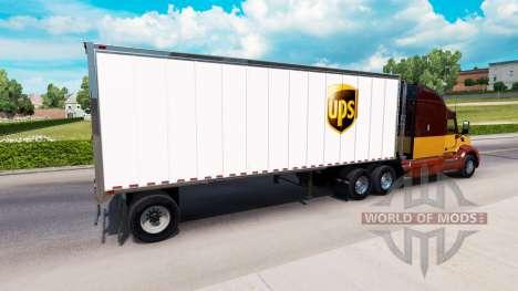 Pieles de UPS y FedEx para remolques para American Truck Simulator