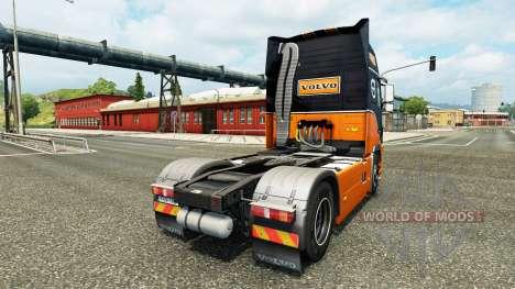 Equipo de carreras de la piel para camiones Volv para Euro Truck Simulator 2