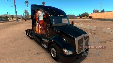 Kenworth T680 Skin Phoenix para American Truck Simulator