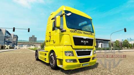 Gertzen Transporte de la piel para el HOMBRE cam para Euro Truck Simulator 2