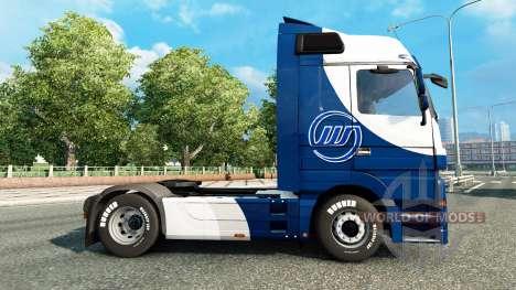 La piel Williams F1 Team en la unidad tractora M para Euro Truck Simulator 2