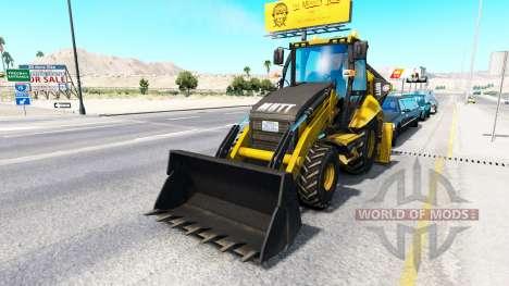 Retroexcavadora en el tráfico para American Truck Simulator