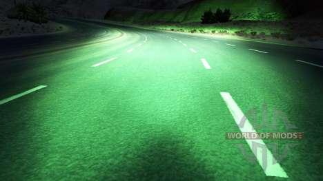 Verde xenons para American Truck Simulator