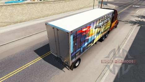 La piel de los ATS en el remolque para American Truck Simulator