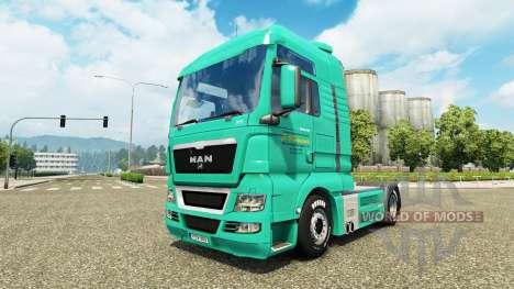 La piel de J. Simmerer en el camión MAN para Euro Truck Simulator 2