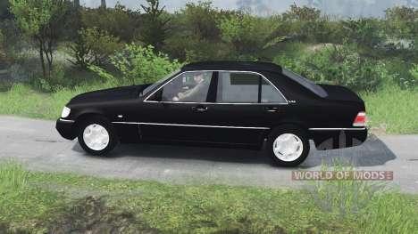 Mercedes-Benz S600 (W140)[03.03.16] para Spin Tires