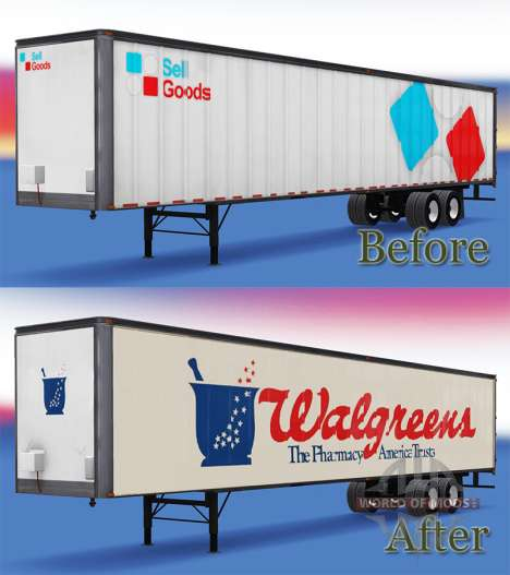Semi-Walgreens para American Truck Simulator