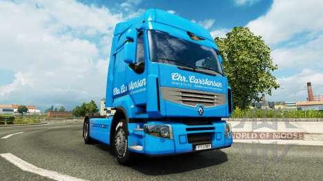 Carstensen de la piel para Renault camión para Euro Truck Simulator 2