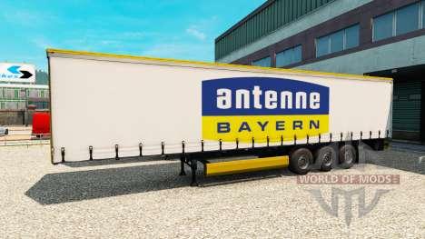 Semi-Antena Bayern para Euro Truck Simulator 2