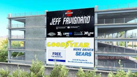 La publicidad en vallas publicitarias de v1.1 para American Truck Simulator