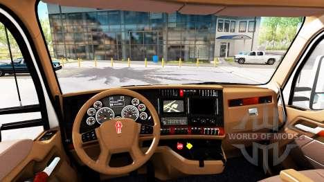 Brown interior Kenworth T680 para American Truck Simulator