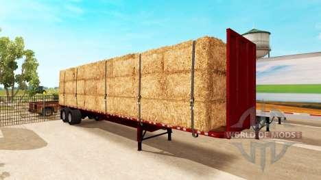 Semi-remolque de plataforma para American Truck Simulator