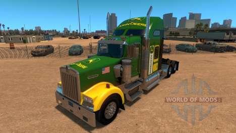 Kenworth W900 John Deere Skin para American Truck Simulator